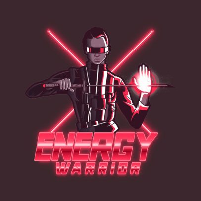 Gaming Logo Maker Featuring Energy-Control Characters 3403