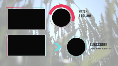 YouTube End Screen Video Maker Featuring Animated Circles 449-el1