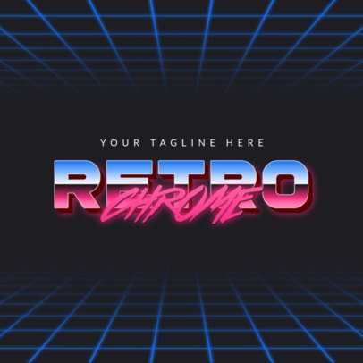 Retro Logo Maker Featuring Chrome Typography 3398