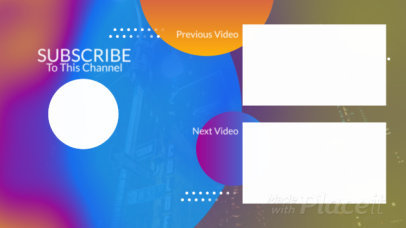 Animated YouTube End Screen Video Maker with Colorful Shapes 427-el1