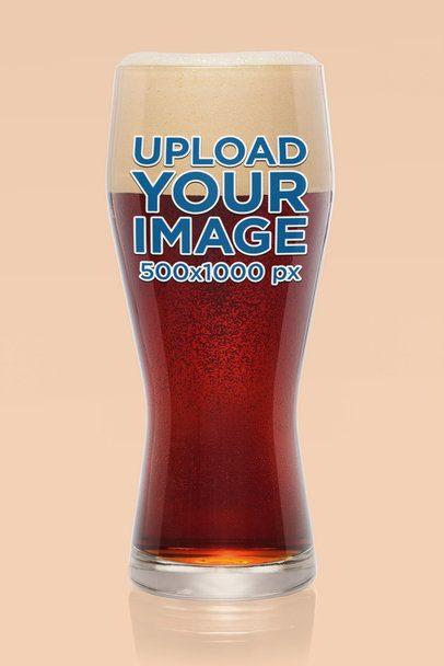 Mockup of a Tall Glass of Dark Beer 35697-r-el2