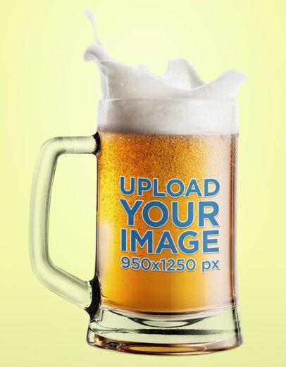 Mockup of a Bubbling Beer Glass with Splashing Foam 35657-r-el2