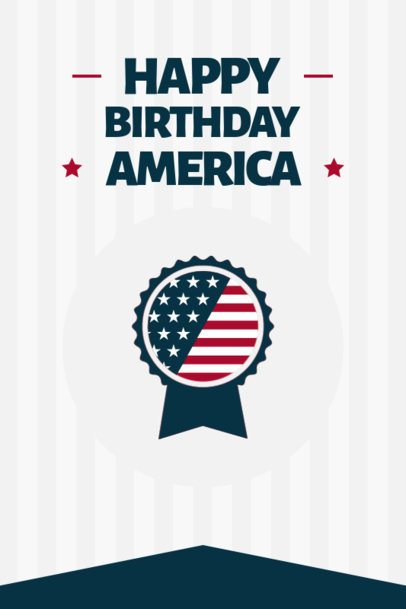 Pinterest Pin Template Featuring an American Award Rosette for Independence Day 1949a-el1