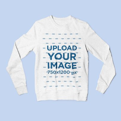 Mockup Featuring a Heathered Sweatshirt Placed on a Colored Surface 4795-el1
