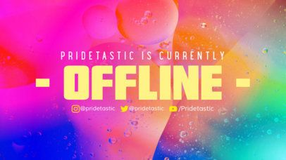 Colorful Twitch Offline Banner Creator with a Pride Celebratory Design 2670a
