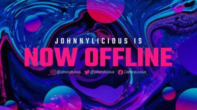 Futuristic Twitch Offline Banner Maker Featuring a Liquid-Texture Background 2670c