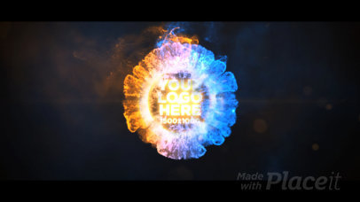 Epic Intro Video Creator Featuring a Colorful Explosion 1715-el1