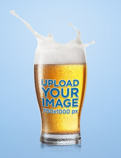 Mockup of a Beer Glass with Splashing Foam 35656-r-el2