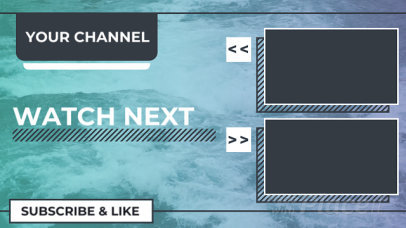 YouTube End Screen Video Template with the Ocean as Background 1066-el1