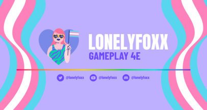 Twitch Banner Maker for a Gaming Channel with Colorful Stripes 2668c