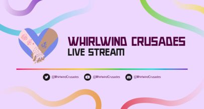 LGBT-Themed Twitch Banner Creator Featuring Colorful Lines 2668j