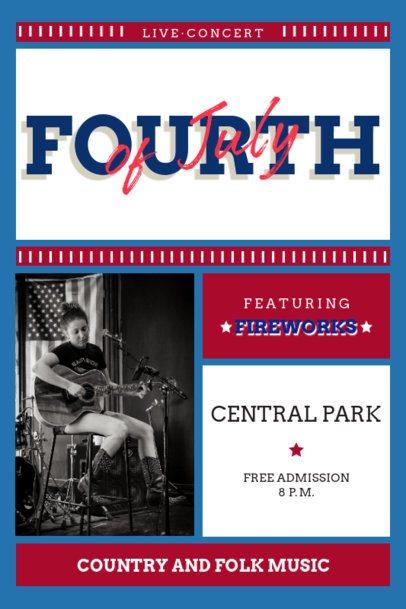 Online Poster Design Maker for a 4th of July Concert 1898c-el1