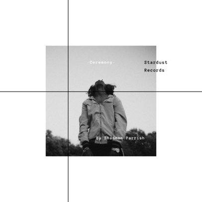 Album Cover Creator Featuring a Square Grid with a Photograph 1906b-el1