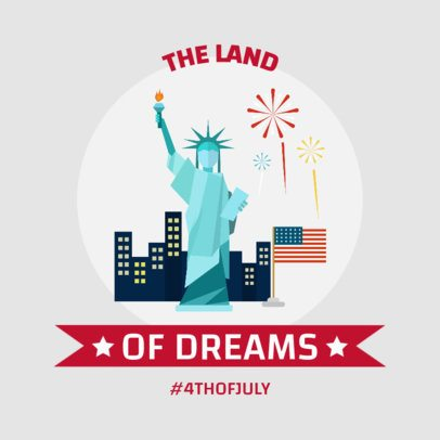 Patriotic Instagram Post Maker with The Statue of Liberty 1947d-el1