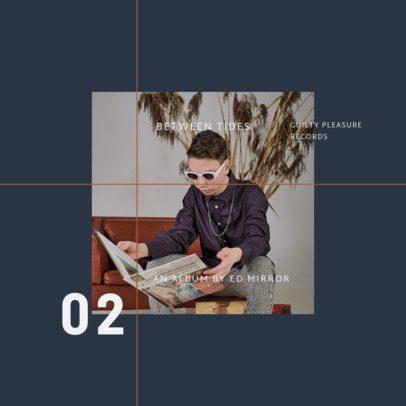 Minimalist Album Cover Template Featuring a Sectioned Design 1906c-el1