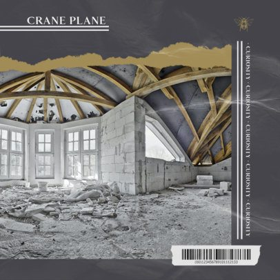 Collage-Style Album Cover Creator Featuring the Inside of a Building 1904c-el1