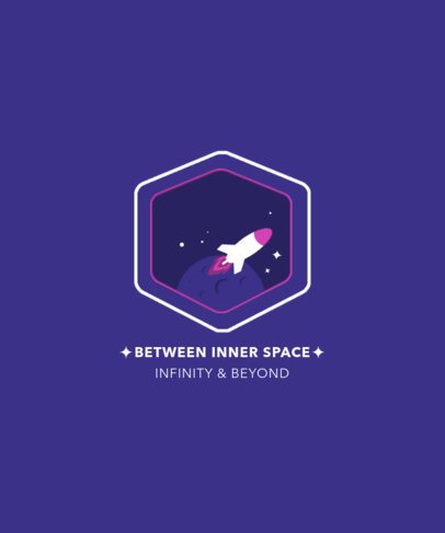 T-Shirt Design Maker with Fun Graphics of Outer Space 2136-el1