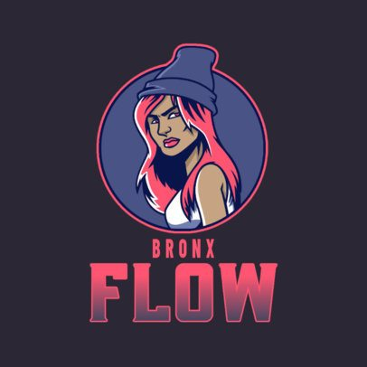 Hip-Hop Logo Creator Featuring a Female Character 3409g