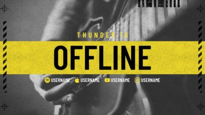 Twitch Offline Banner Maker with Grunge Texture for Musicians 2705