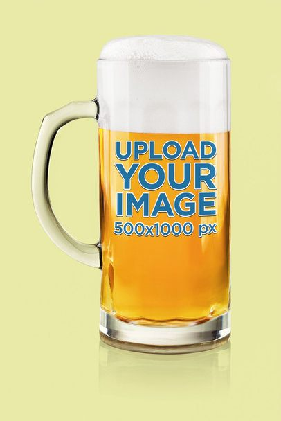 Mockup of a Beer Glass Placed in a Customizable Setting 37320-r-el2
