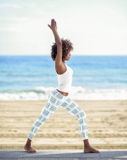 Women's Leggings Mockup of a Yogi at the Beach 38434-r-el2