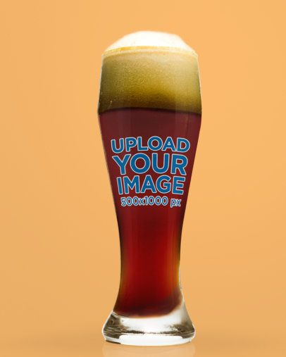 Mockup of Dark Beer in a Tall Glass 35987-r-el2