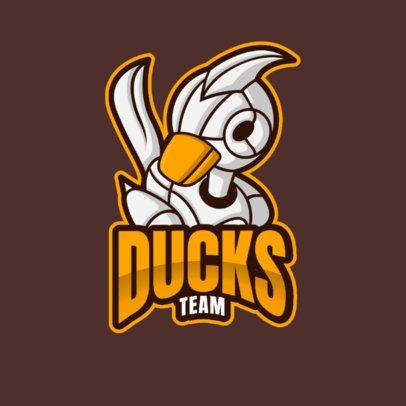 Gaming Logo Maker Featuring a Robot Duck 2008a-el1
