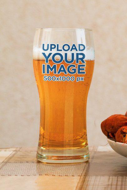 Mockup of a Curved Beer Glass 35978-r-el2