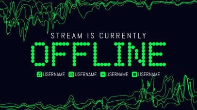 Twitch Offline Banner Maker With Abstract Backgrounds and Modern Typography 2706