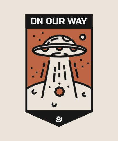 T-Shirt Design Maker with a UFO Graphic and an Ominous Message 2088d-el1
