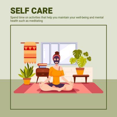 Instagram Post Creator Featuring a Wellness Advice on Meditation 1988b-el1