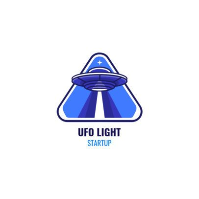Logo Generator for Startup Companies Featuring a UFO Illustration 2077b-el1