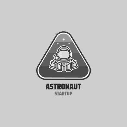 Monochromatic Logo Maker for a Startup Company Featuring an Astronaut Clipart 2077c-el1