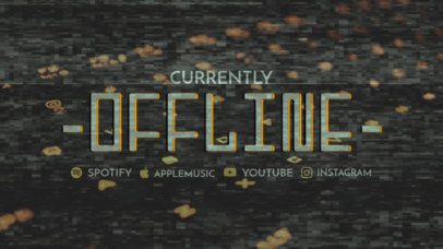Twitch Offline Banner Maker with Glitch Textures 2700k