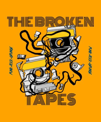T-Shirt Design Creator with a Broken Tape Graphic 2696b