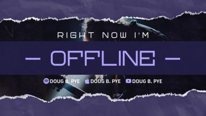 Twitch Offline Maker Featuring Ripped Paper Texture Borders 2705f