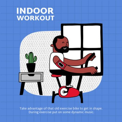 Instagram Post Template for Indoor Work Out Tips 1975-el1