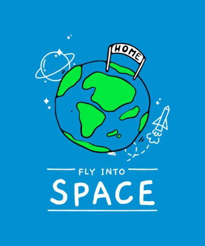 T-Shirt Design Maker Featuring Space-Related Illustrations 2097-el1