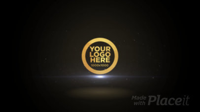 Intro Maker Featuring a Golden Particles Logo Reveal 661-el1