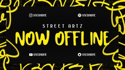 Twitch Offline Banner Maker Featuring a Street Vibe for a Music Artist 2703d