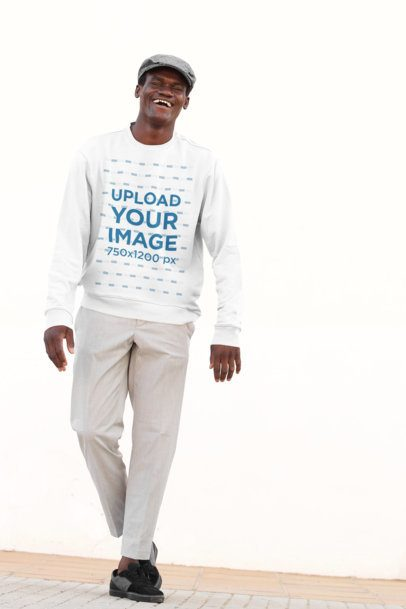 Sweatshirt Mockup of a Man with a Golf Style 38844-r-el2
