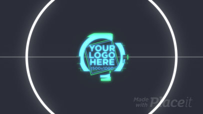 Logo Reveal Intro Maker Featuring a Glitchy Animation Effect 784-el1