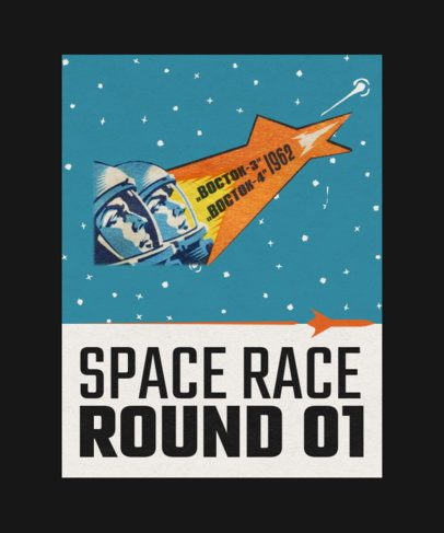 T-Shirt Design Creator with a Vintage Graphic Inspired by Russia's Space Race 2080e-el1