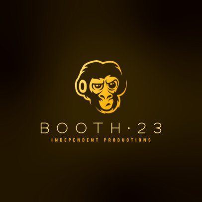 Logo Maker for an Independent Music Label Featuring a Monkey Graphic 3427e