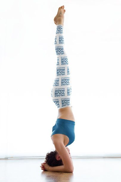 Leggings Mockup of a Woman Doing an Advanced Yoga Headstand 38443-r-el2