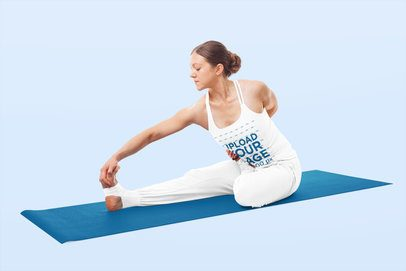 Tank Top Mockup of a Woman in a Seated Yoga Pose 38446-r-el2