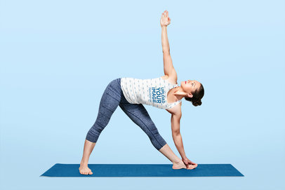 Sublimated Tank Top Mockup of a Female Yogi in a Studio 38750-r-el2