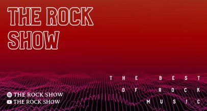 Twitch Banner Template for a Rock Show Channel with Wave Graphics 2153b-el1