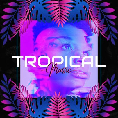 Instagram Post Template for a Tropical House Music Account 2719f