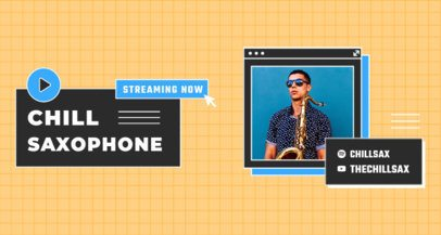 Twitch Banner Maker Featuring a Saxophonist's Picture 2152a-el1